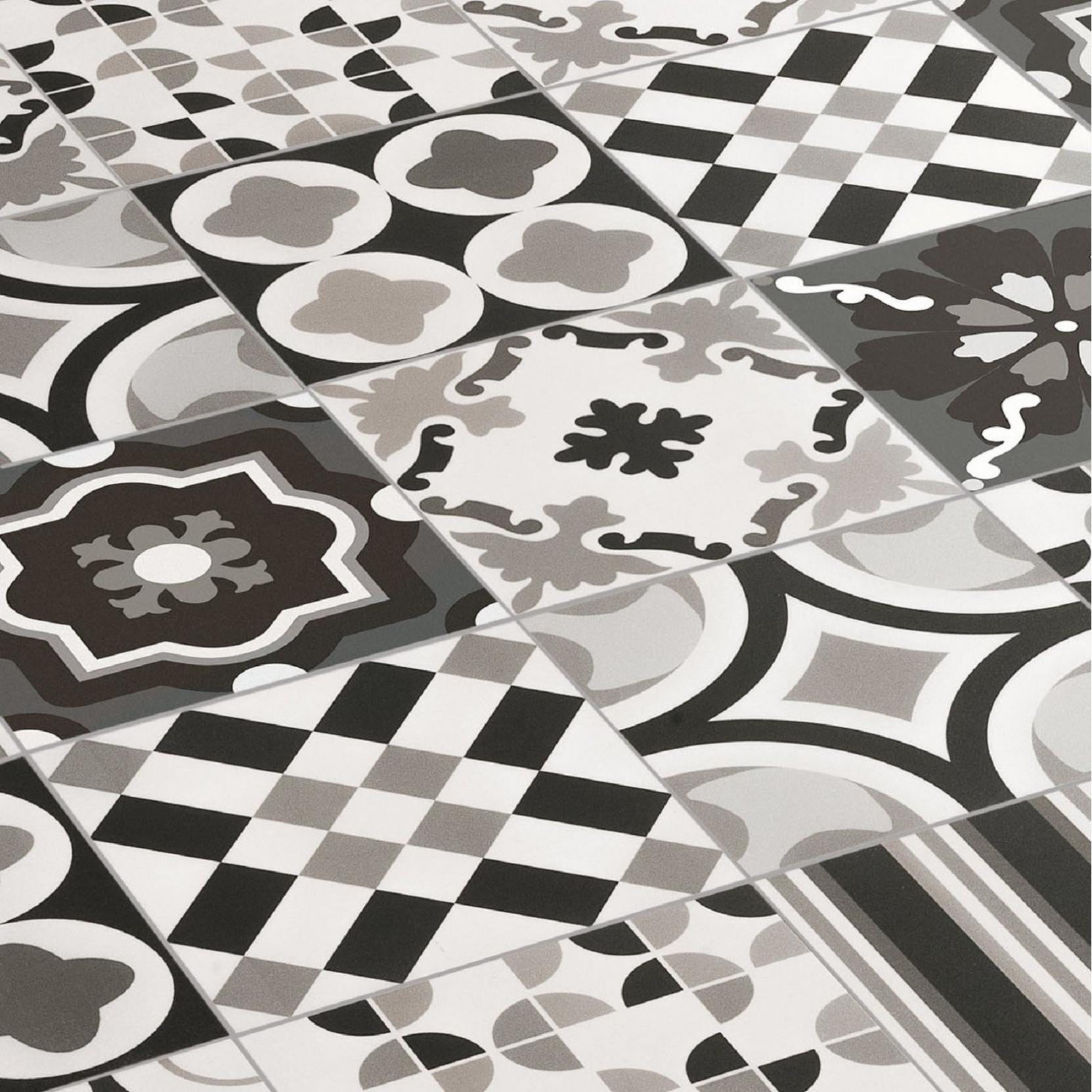 Ceramica Sant Agostino Patchwork B Amp W Mix Tattahome