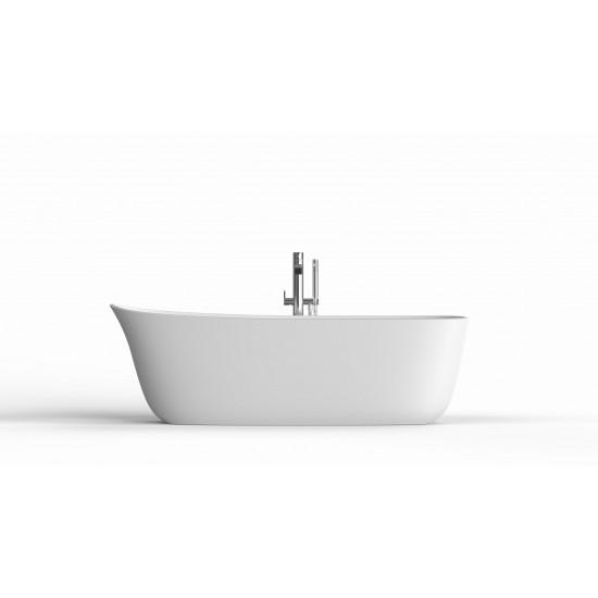 DAFNE Antonio Lupi Oval Cristalplant Bathtub