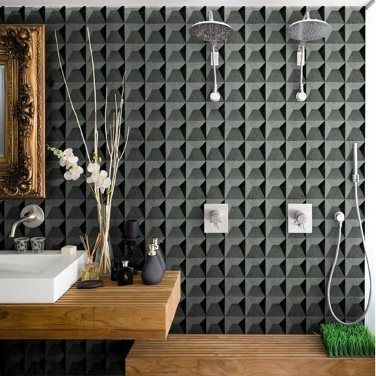 Wall & Decò WET SYSTEM POLY-HEDRIC WALLPAPER