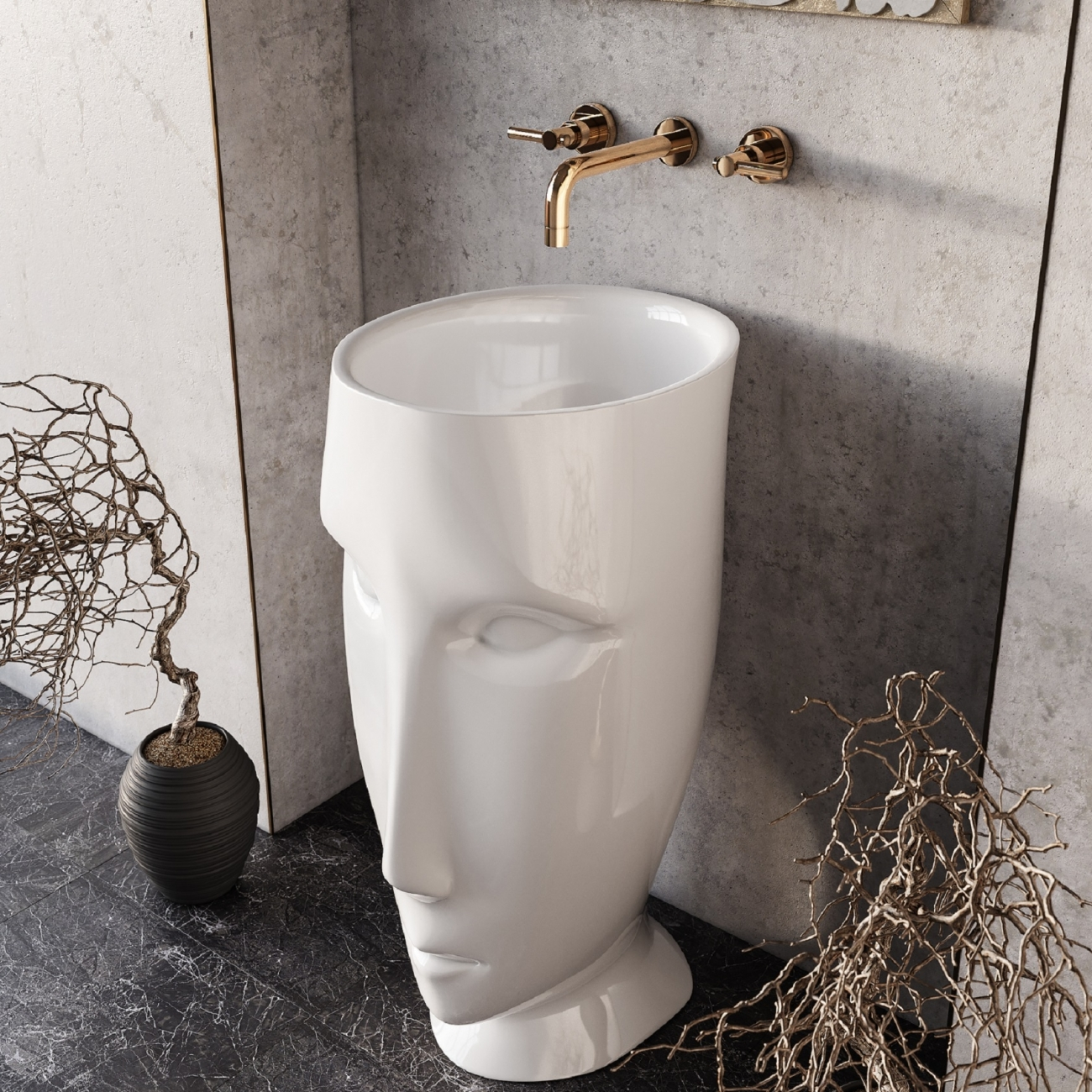 Kerasan Artwork Moloco Freestanding Washbasin Tattahome