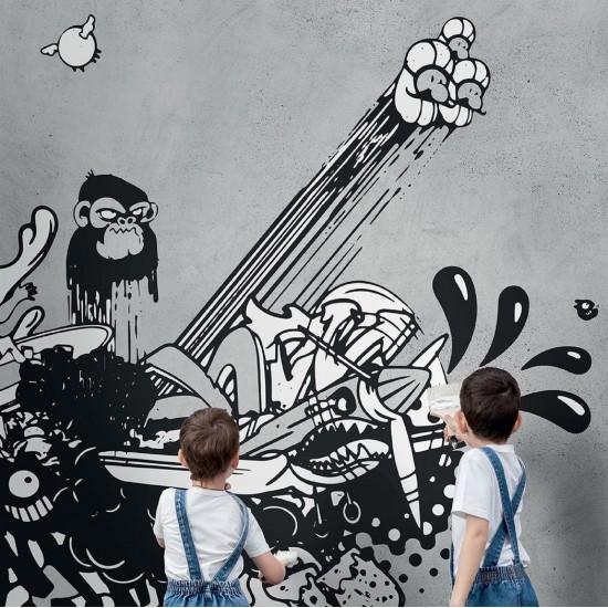 LONDON ART ANDREW WALLPAPER FOR KIDS