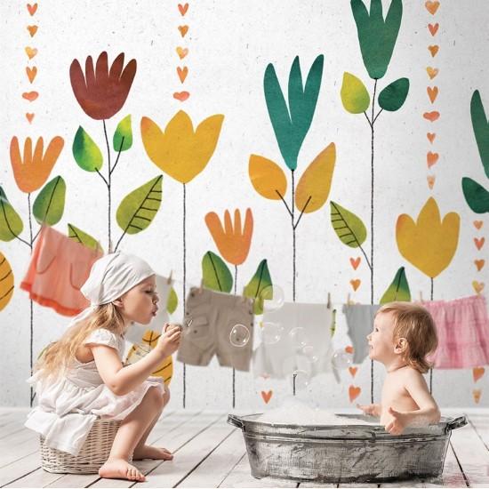 LONDON ART CHERYL WALLPAPER FOR KIDS