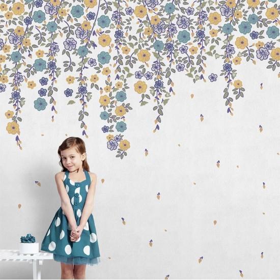 LONDON ART DAISY WALLPAPER FOR KIDS