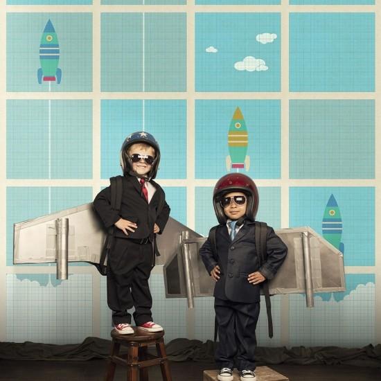 LONDON ART LEWIS WALLPAPER FOR KIDS