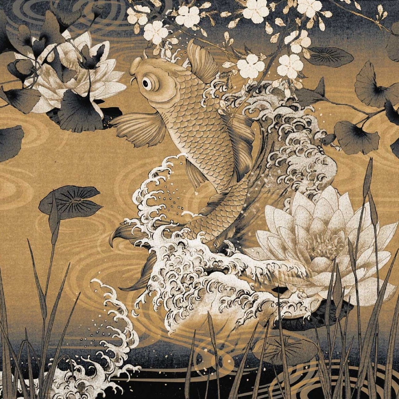 London Art Koi Wallpaper