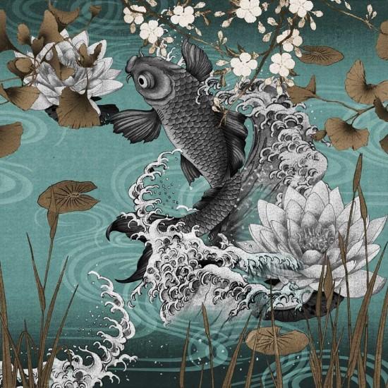 London Art Koi Wallpaper Tattahome
