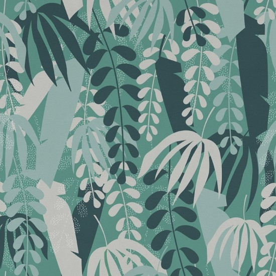 LONDON ART TROPICAL SHAPE WALLPAPER