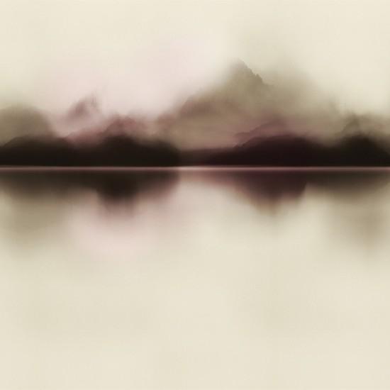 LONDON ART BLACK DROP WALLPAPER