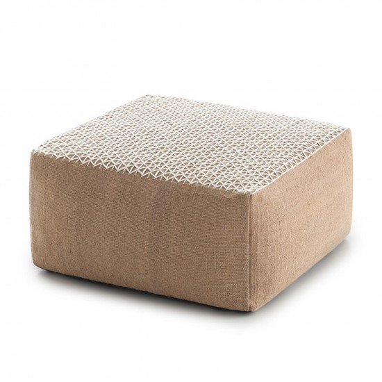 GAN SPACES RAW WHITE SMALL POUF