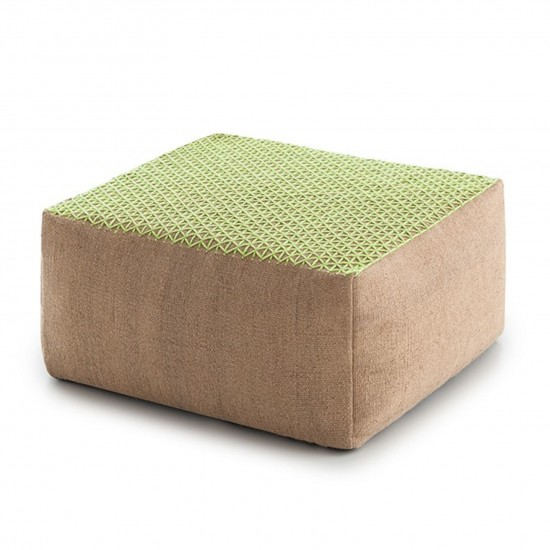 GAN SPACES RAW LIMA SMALL POUF