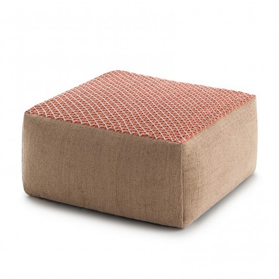 GAN SPACES RAW PINK SMALL POUF