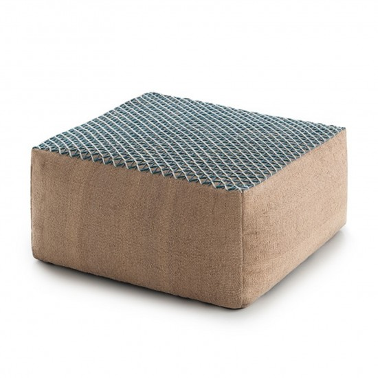 GAN SPACES RAW BLUE SMALL POUF