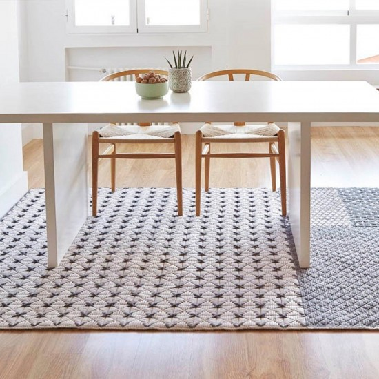 GAN SPACES SILAI GREY RUG 171