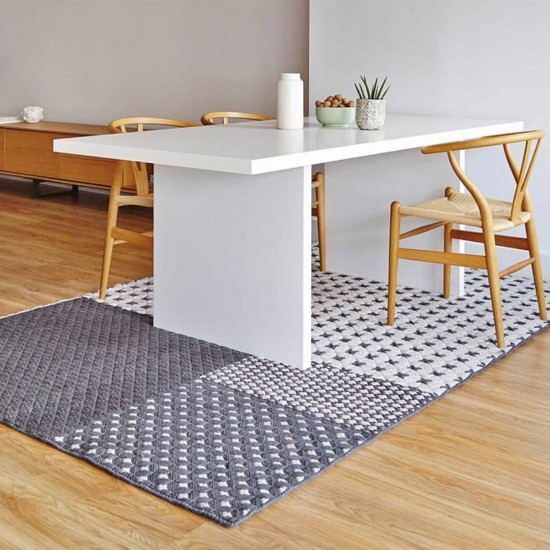 GAN SPACES SILAI GREY RUG 201