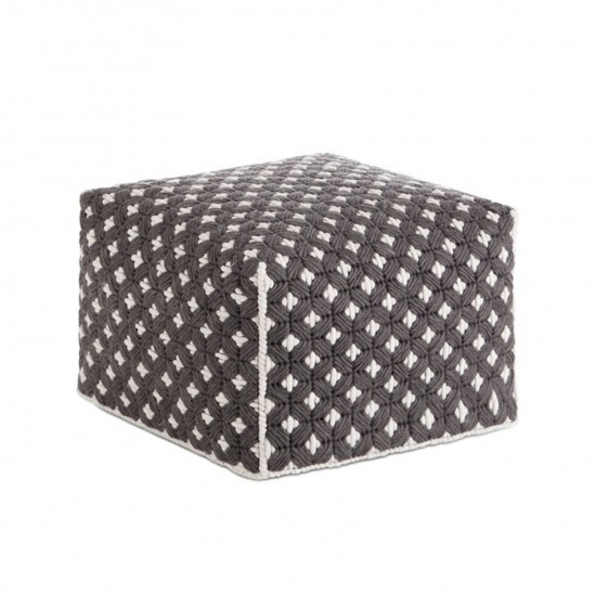 GAN SPACES SILAI DARK GREY SMALL POUF