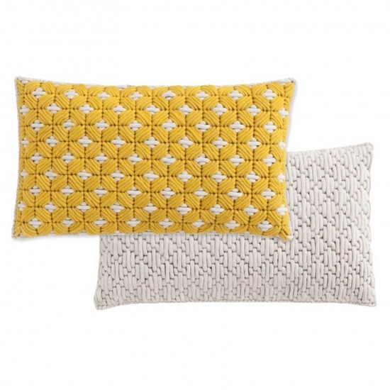 GAN SPACES SILAI YELLOW-WHITE CUSHION