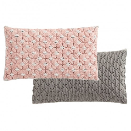GAN SPACES SILAI ROSE-LIGHT GREY CUSHION