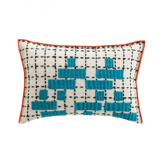 GAN SPACES BANDAS C TURQUOISE SINGLE CUSHION