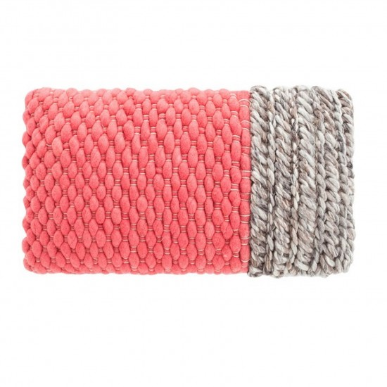 GAN SPACES MANGAS SPACES PLAIT CORAL CUSHION