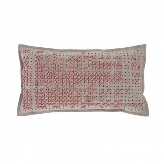 GAN SPACES CANEVAS ABSTRACT LIGHT PINK CUSHION