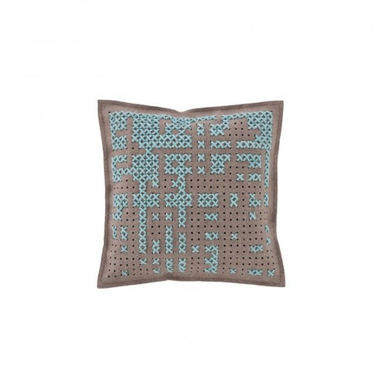 GAN SPACES CANEVAS ABSTRACT BLUE CUSHION