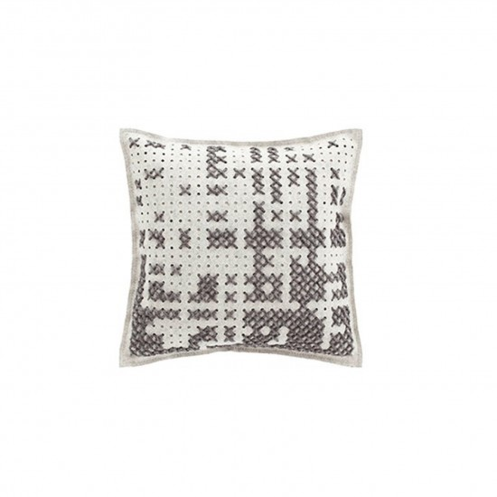 GAN SPACES CANEVAS ABSTRACT GREY CUSHION