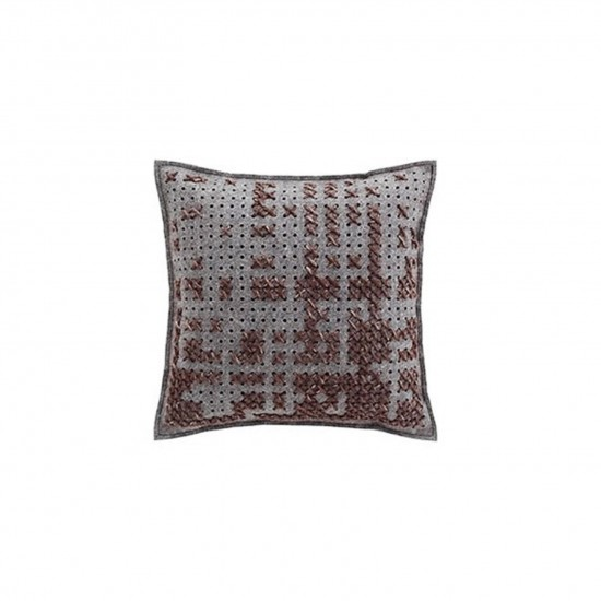 GAN SPACES CANEVAS ABSTRACT CHARCOAL CUSHION