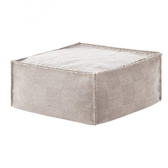 GAN SPACES SAIL TAUPE SQUARE POUF