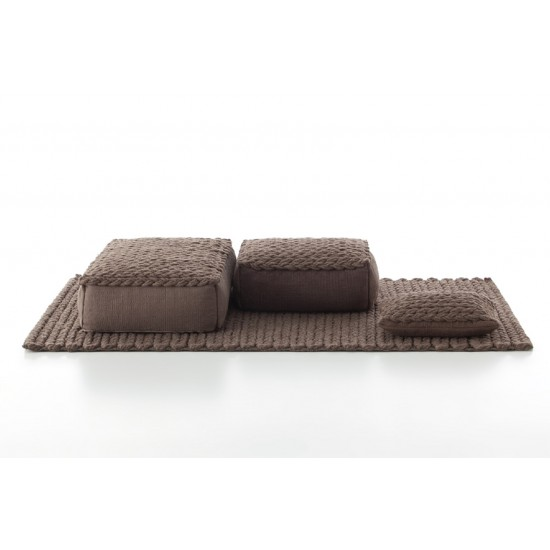 GAN SPACES TRENZAS BROWN RUG 200