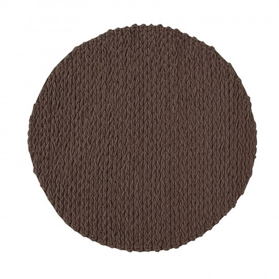 GAN SPACES TRENZAS BROWN CIRCULAR RUG
