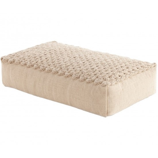 GAN SPACES TRENZAS BEIGE BIG POUF