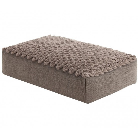 GAN SPACES TRENZAS TAUPE BIG POUF
