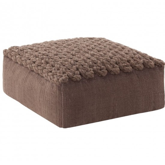 GAN SPACES TRENZAS BROWN SQUARE POUF