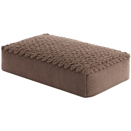 GAN SPACES TRENZAS BROWN BIG POUF