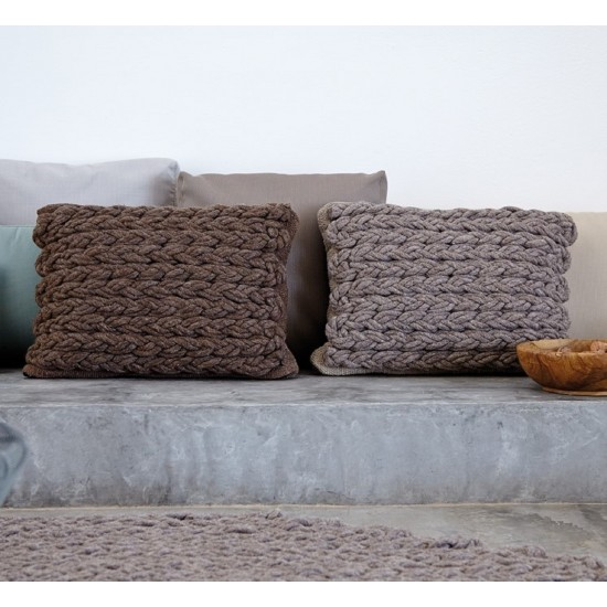 GAN SPACES TRENZAS TAUPE CUSHION
