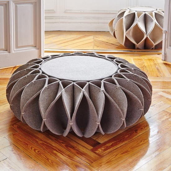 GAN ACCESSORIES RUFF POUF LOW GREY