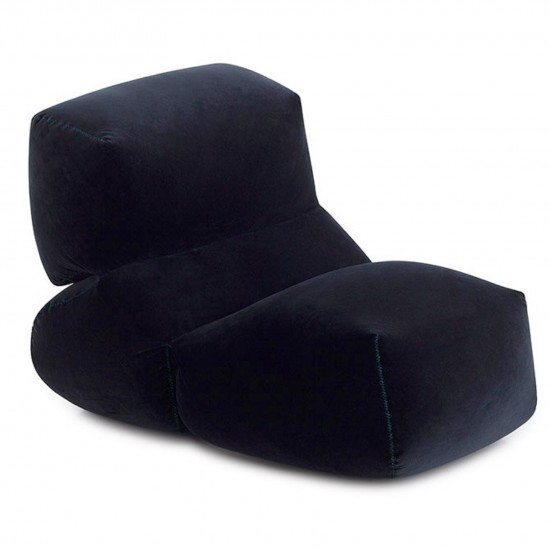 GAN GRAPY NAVY VELVET SOFT SEAT