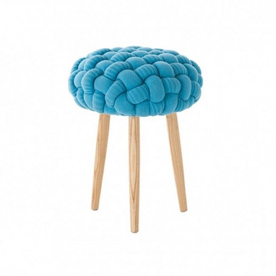 GAN KNITTED STOOLS BLUE