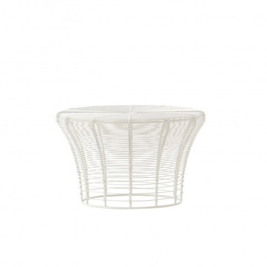 GAN ARAM WHITE LOW STOOL