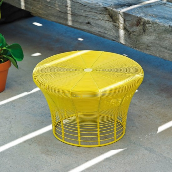 GAN ARAM YELLOW LOW STOOL