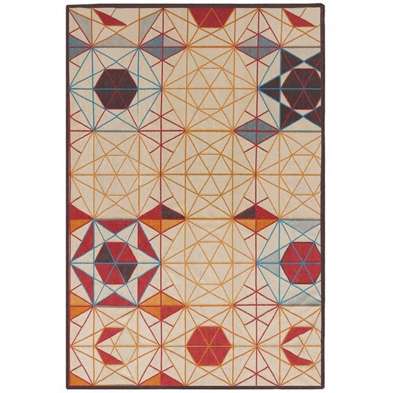 GAN KILIM COLLECTION HEXA RECTANGULAR RUG