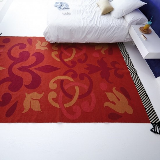 GAN KILIM COLLECTION ARABESCO RED RUG