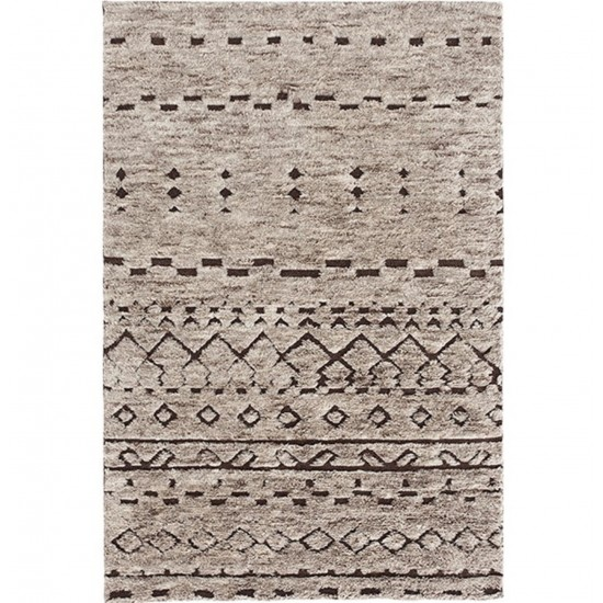 GAN HAND KNOTTED COLLECTION BEREBER NATURAL RUG