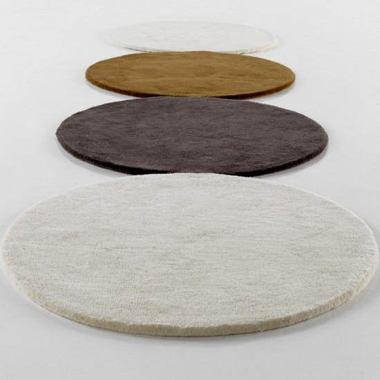 GAN HAND TUFTED COLLECTION CIRCULOS PASILLERA BEIGE RUG