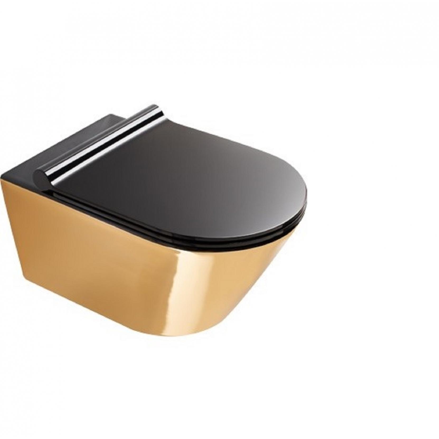 Catalano Gold Silver Wall Hung Wc Tattahome