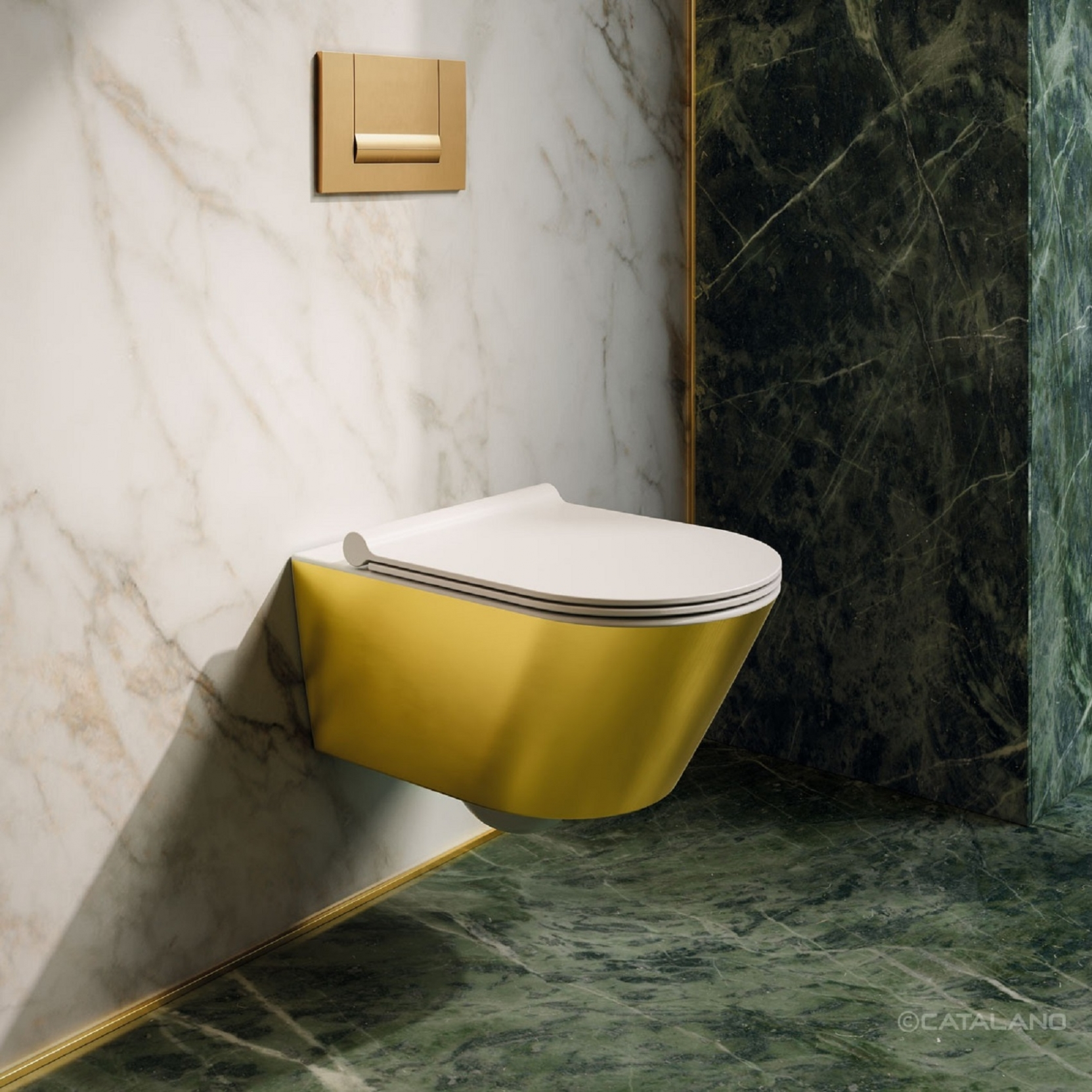 Catalano Gold Amp Silver Wall Hung Wc Tattahome