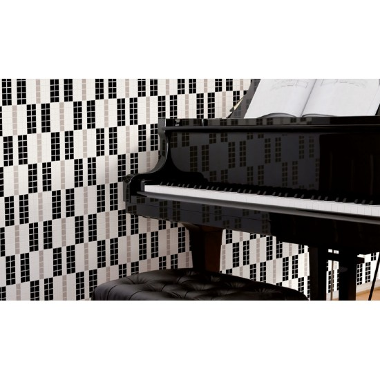 BISAZZA DECORI MODERN ALTERNANCE NOIR & BLACK