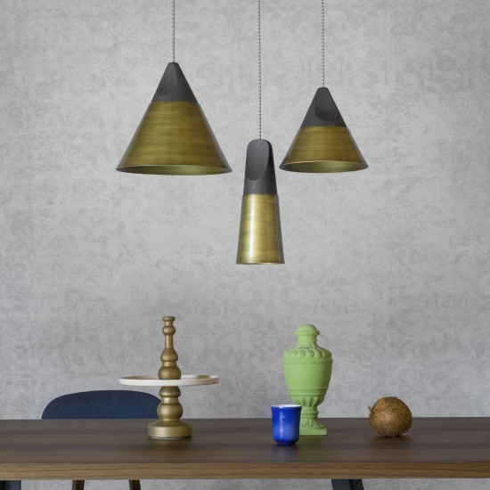 MINIFORMS SLOPE BRONZÈ SMALL SUSPENSION LAMP