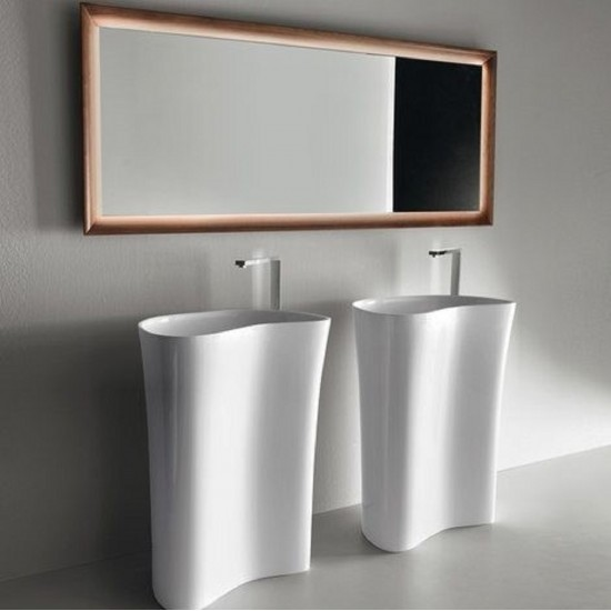 FALPER LEVEL 45 FREESTANDING CERAMILUX WASHBASIN