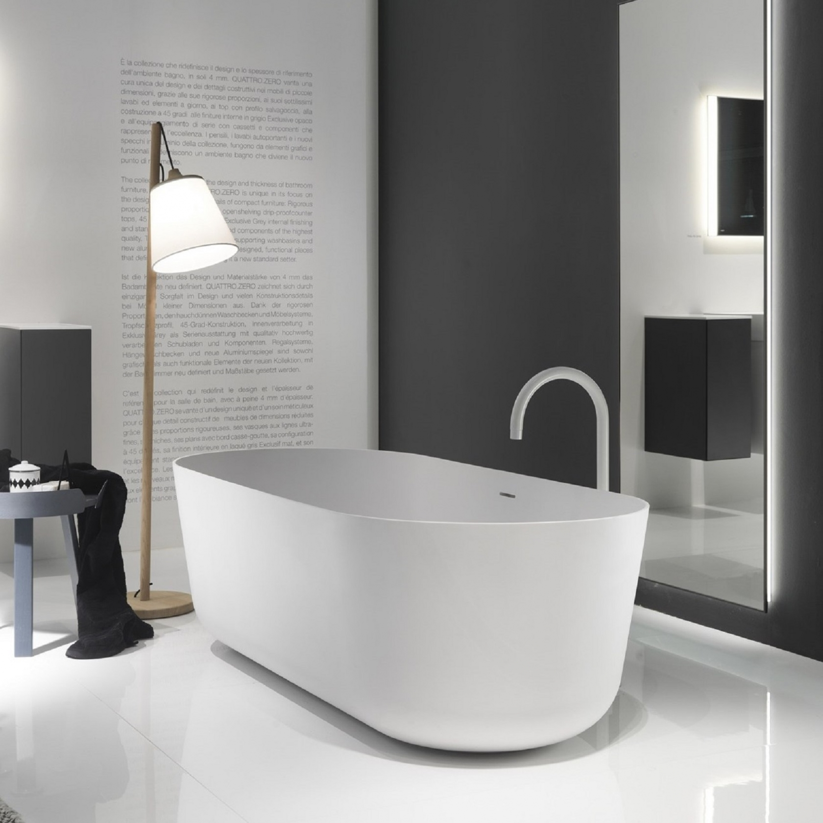 Falper Quattro Zero Freestanding Bathtub Tattahome